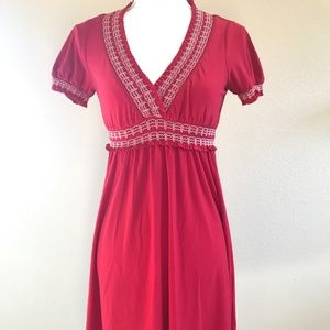 Talbots Red or Black Empire Waist Dress PS